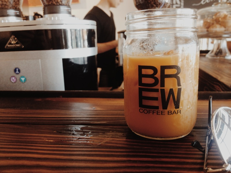 cold brew at a new coffee shop